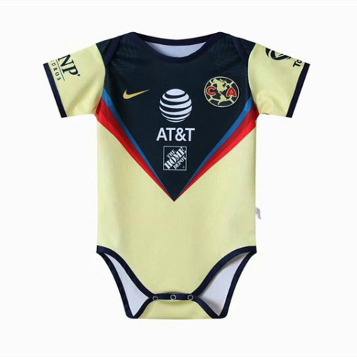 Club América 20/21 Infant Rompers-Navy and Yellow