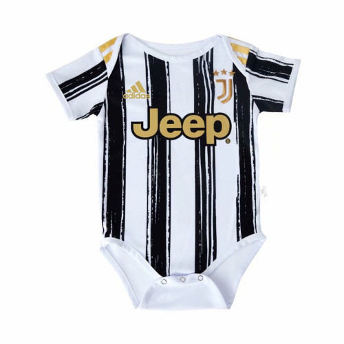 Juventus 20/21 Infant Rompers-Black and White