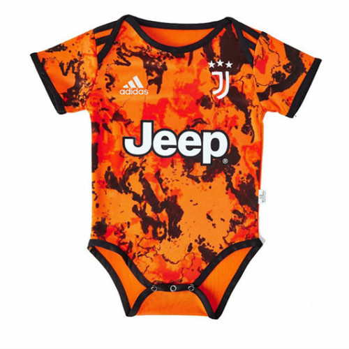 Juventus 20/21 Infant Rompers-Orange