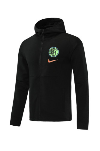 Inter Milan 20/21 Full-zip Training Hoodie Black MT02
