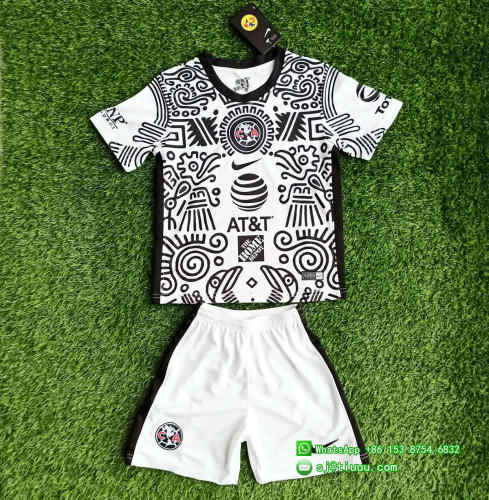 (Discount) Kids Club America 20/21 Third Jersey and Short Kit
