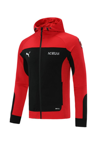 AC Milan 21/22 Full-zip Training Hoodie Black MT01