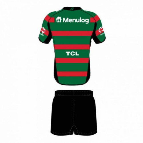 Kids South Sydney Rabbitohs 2021 Home Rugby Kit