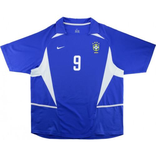 Brazil 2002-2004 Home Retro Jersey #9 Ronaldo