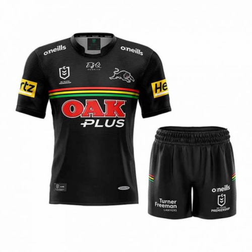Kids Penrith Panthers 2021 Home Rugby Kit