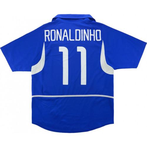 Brazil 2002-2004 Home Retro Jersey #11 Ronaldinho