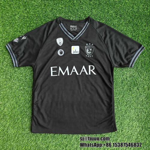 Thai Version Al-Hilal Saudi FC 21/22 Black Match Jersey