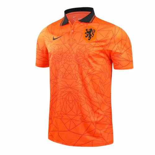 Netherlands 2021 Pre-Match Polo Shirt Orange