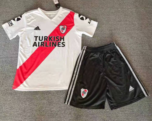 River Plate 2020 Home Soccer Jersey And Short Kit