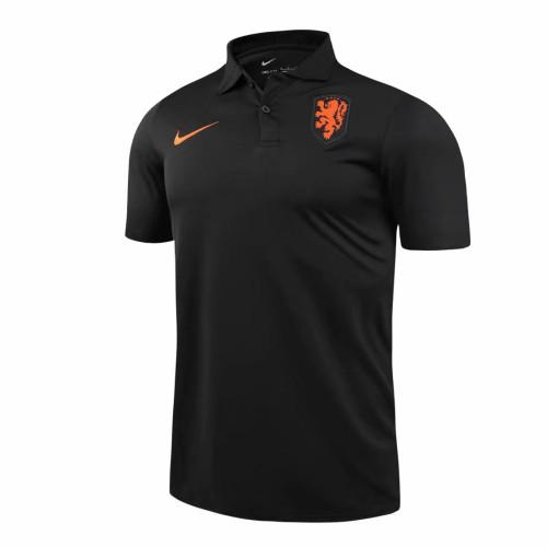 Netherlands 2021 Pre-Match Polo Shirt Black