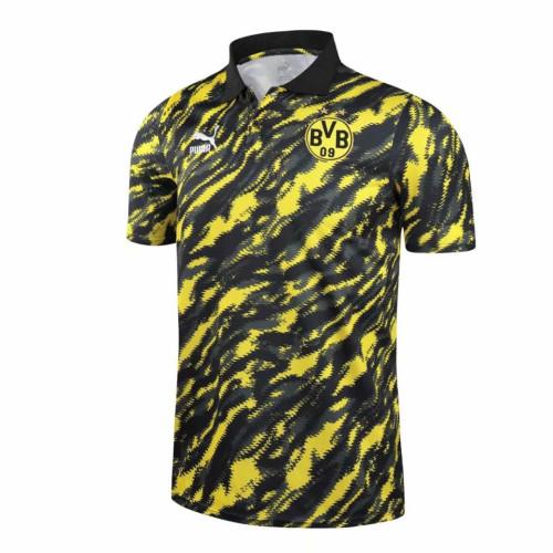 Borussia Dortmund 21/22 Pre-Match Polo Shirt Black and Yellow