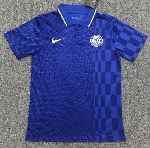 Chelsea 21/22 Pre-Match Polo Shirt Blue