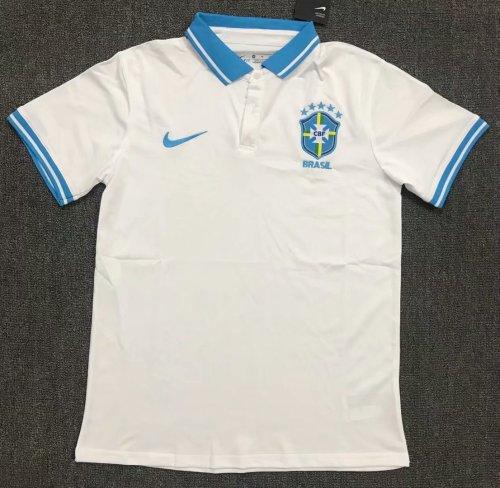 Brazil 2021 Pre-Match Polo Shirt White