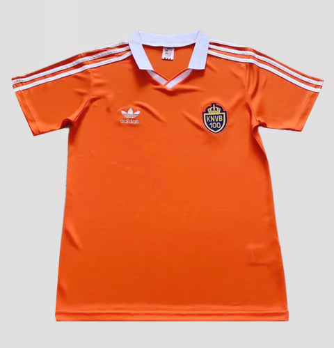 Netherlands 1988 Home 100 Years Commemorate Retro Jersey