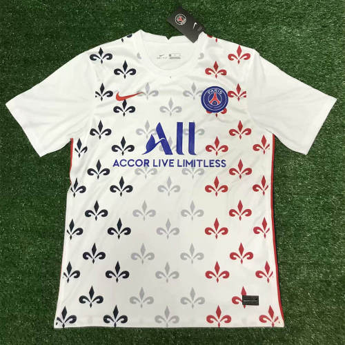 Thai Version Paris Saint-Germain 21/22 Pre-Match Jersey White