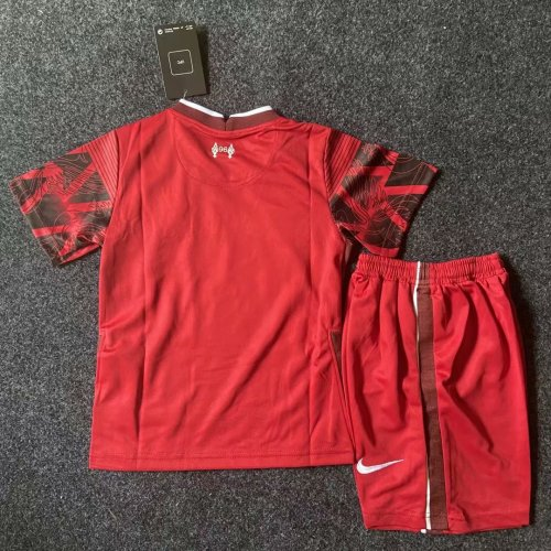 Kids Liverpool 20/21 Pre-Match Jersey and Short Kit