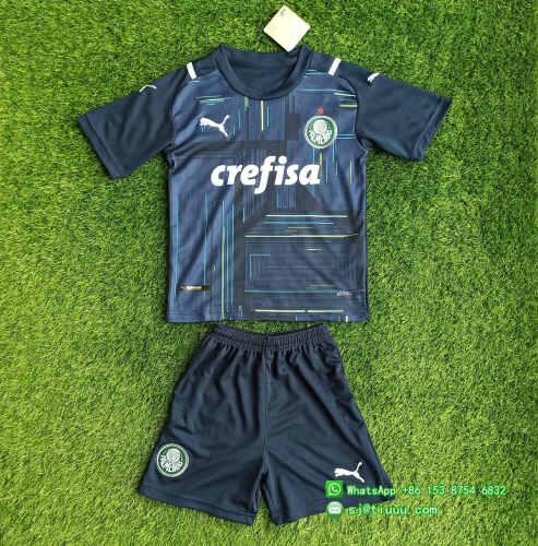 (Discount) Kids Palmeiras 2021 Goalkeeper GK2 Jersey Kit