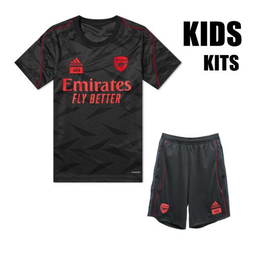 Kids ARS × 424 Pre Match Jersey and Short Kit Black