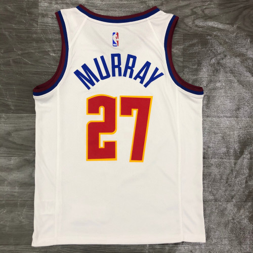 Thai Version Men's Jamal Murray White 2020-21 Swingman Player Jersey – Earned Edition