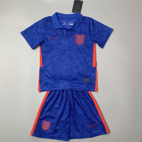 Kids England 2021 Away Soccer Jersey and Short Kit