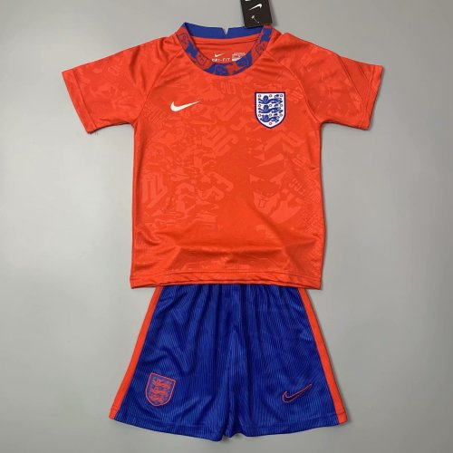 Kids England 2021 Pre-Match Jersey and Short Kit