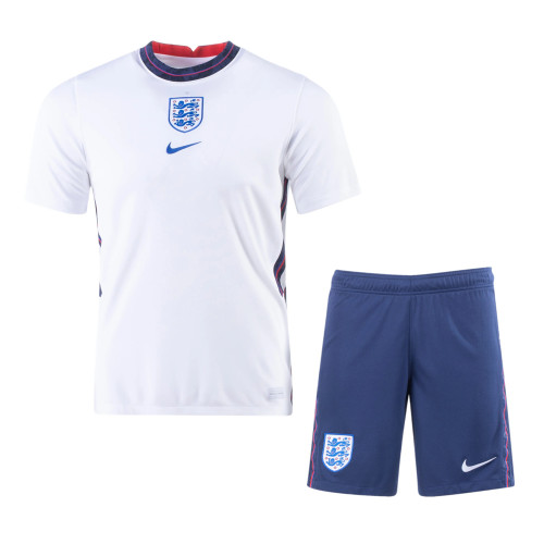 England 2021 Home Soccer Jersey and Short Kit
