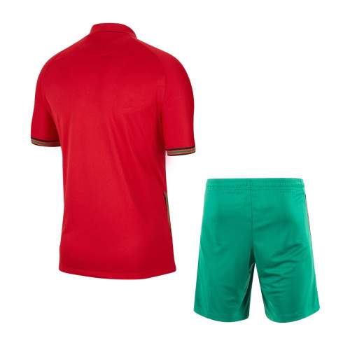 Portugal 2021 Home Soccer Jersey and Short Kit