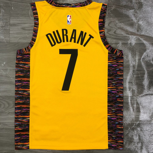 Thai Version Men's Kevin Durant Yellow Swingman Player Jersey - Spread Love