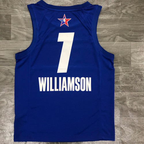 Thai Version Men's Zion Williamson All-Star 2021 Blue Swingman Player Jersey