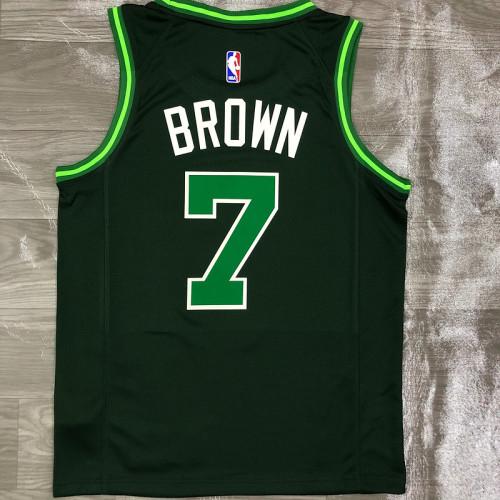 Thai Version Men's Jaylen Brown Green 2020-21 Swingman Player Jersey – Earned Edition