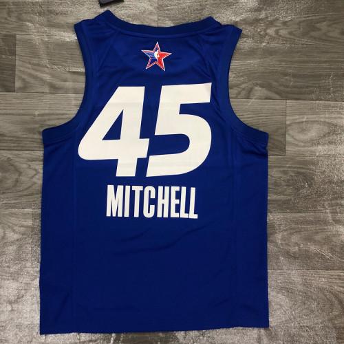 Thai Version Men's Donovan Mitchell All-Star 2021 Blue Swingman Player Jersey