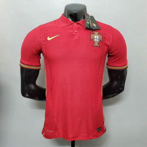 Player Version Portugal 2021 Home Authentic Jersey