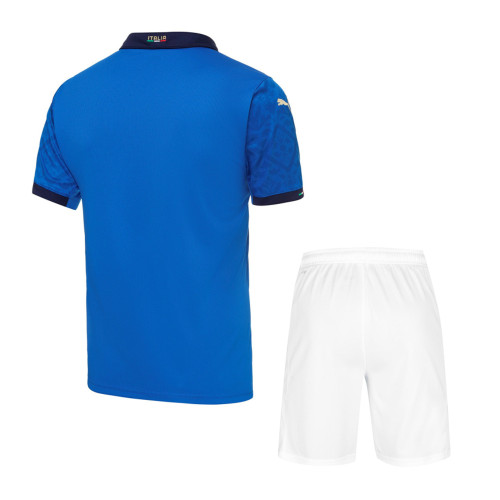 Italy 2021 Home Soccer Jersey and Short Kit