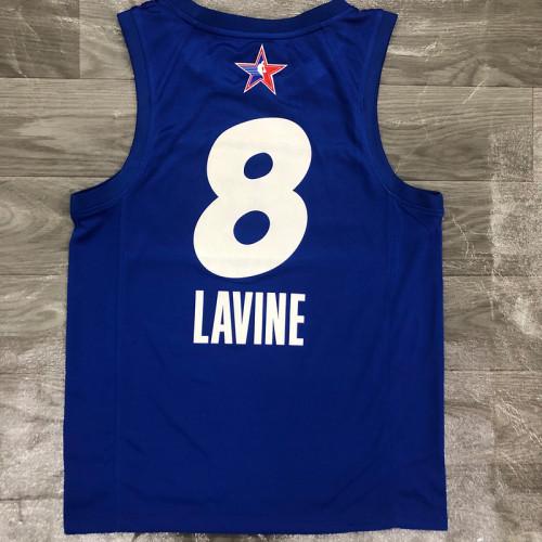 Thai Version Men's Zach LaVine All-Star 2021 Blue Swingman Player Jersey