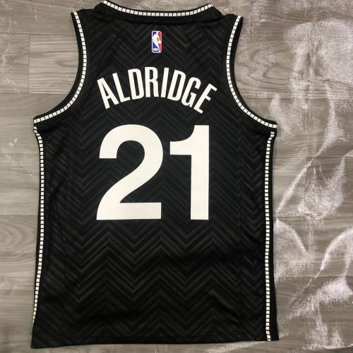 Thai Version Men's LaMarcus Aldridge Black 2020-21 Swingman Player Jersey – Earned Edition
