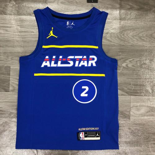 Thai Version Men's Kawhi Leonard All-Star 2021 Blue Swingman Player Jersey