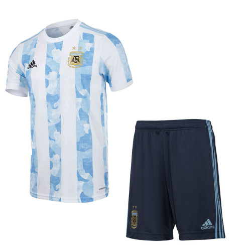Argentina 2021 Home Soccer Jersey and Short Kit