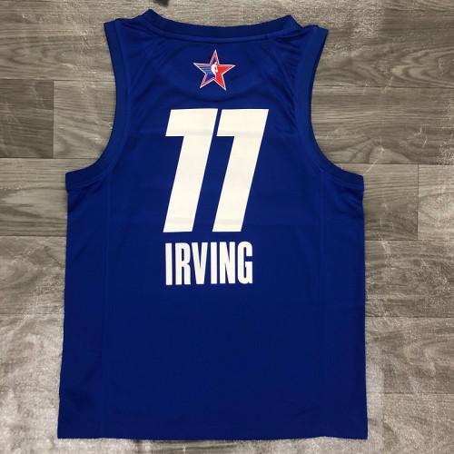 Thai Version Men's Kyrie Irving All-Star 2021 Blue Swingman Player Jersey