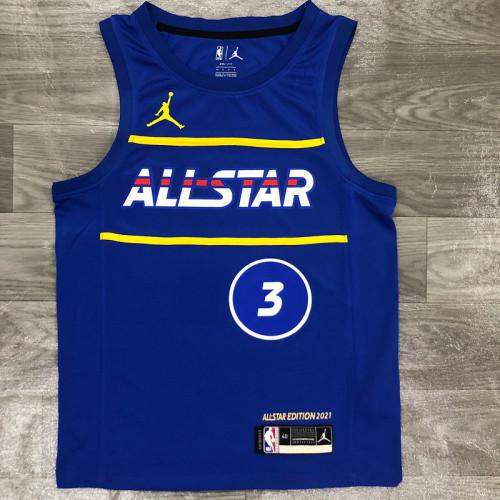 Thai Version Men's Bradley Beal All-Star 2021 Blue Swingman Player Jersey