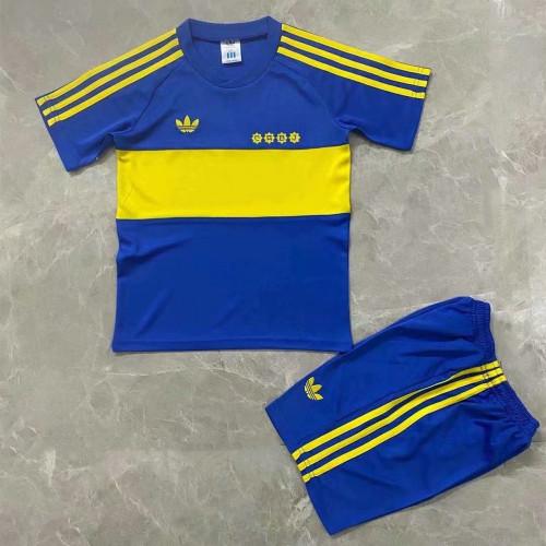 Kids Boca Juniors 1981 Home Retro Jersey Kit