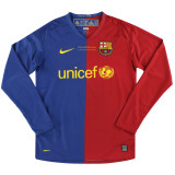 Barcelona 2008/2009 Home Retro L/S Jersey #10 Messi