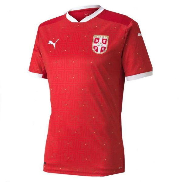 Thai Version Serbia 2021 Home Soccer Jersey