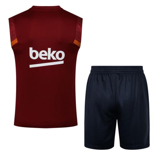 Barcelona 20/21 Sleeveless Training Kit D565#