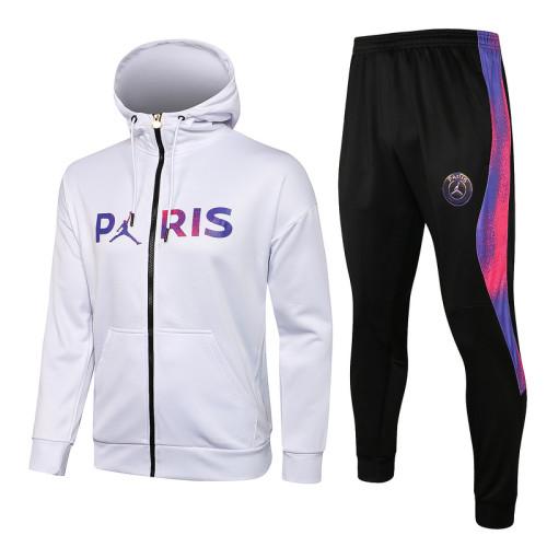 Paris Saint-Germain 21/22 Full-Zip Hoodie Tracksuit F305#