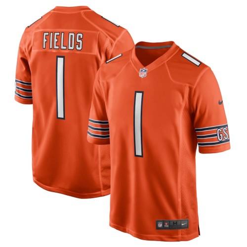 Men's Justin Fields Orange 2021 Draft First Round Pick Alternate Limited Jersey
