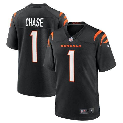 Youth Ja'Marr Chase Black 2021 Draft First Round Pick No. 5 Player Limited Team Jersey