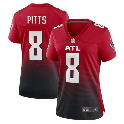 Women's Kyle Pitts Red 2021 Draft First Round Pick Alternate Player Limited Team Jersey