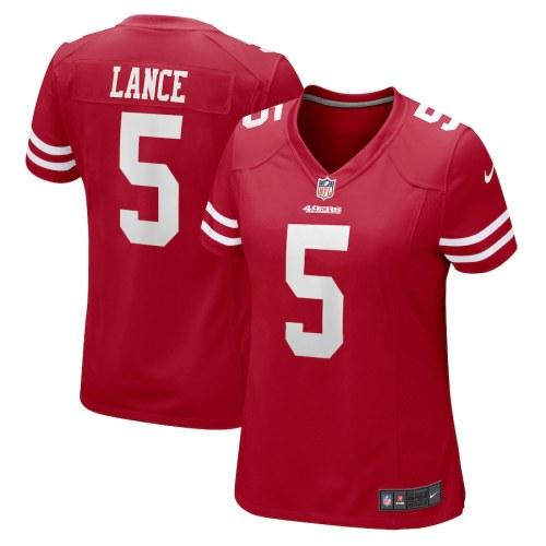 Women's Trey Lance Scarlet Player Limited Team Jersey