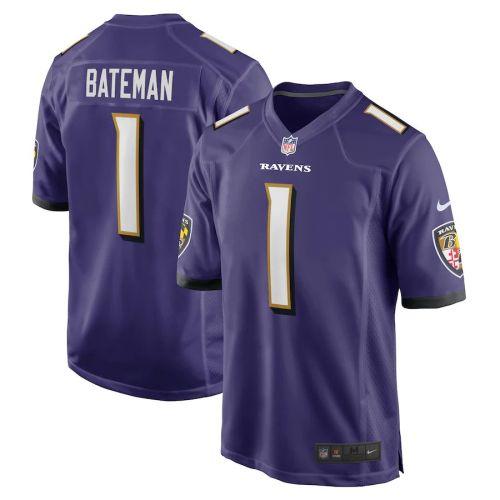 Youth Rashod Bateman Purple 2021 Draft First Round Pick Player Limited Team Jersey