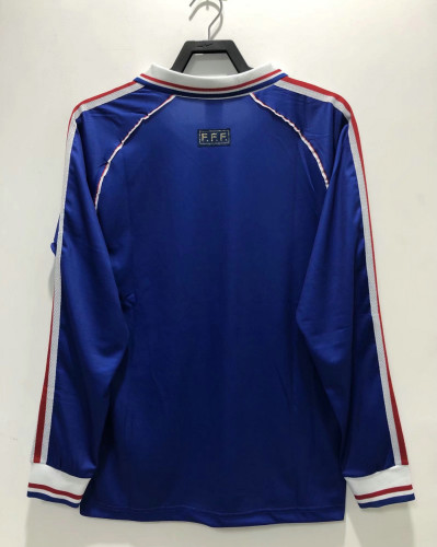 France 1998 World Cup Home Retro L/S Jersey